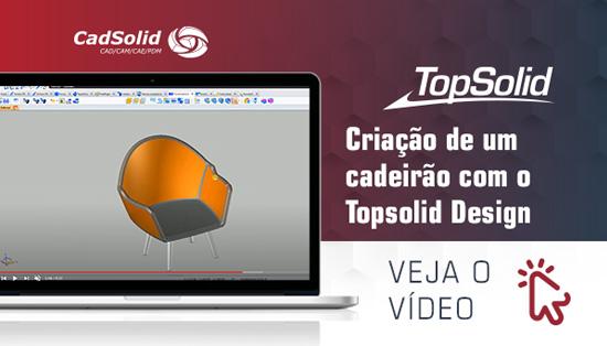 Criação de um cadeirão com Topsolid Design