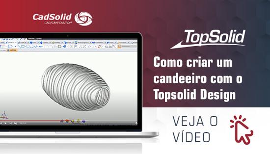 Como criar um candeeiro com o Topsolid Design