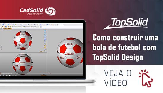 Como construir uma bola de futebol com Topsolid Design