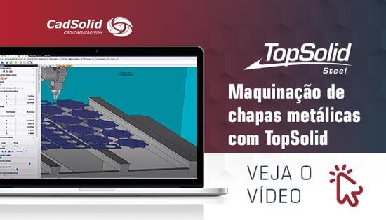 Maquinação de chapas metálicas com TopSolid