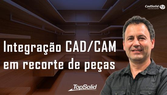 Integrar o CAD e o CAM em recorte de peças com TopSolid Wood