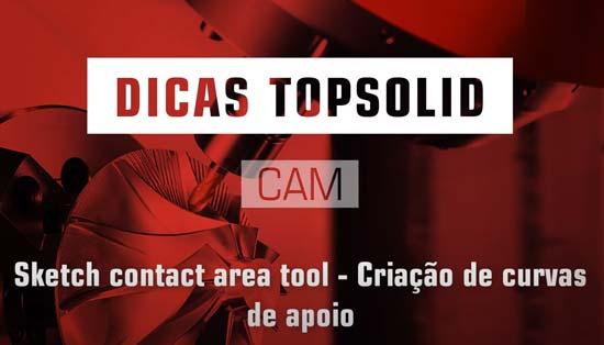Criação de curvas de apoio para o CAM em TopSolid