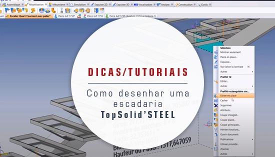 Desenhar uma escadaria com TopSolid Steel