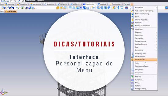 Interface - Personalização do Menu
