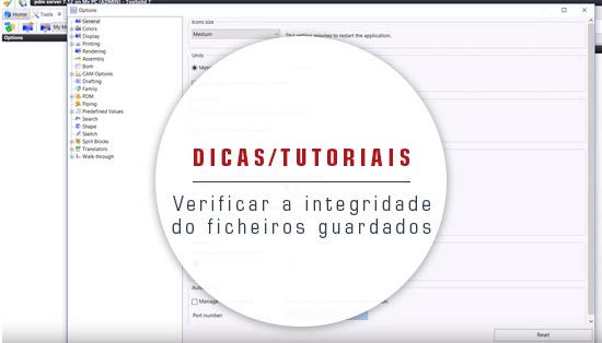 Verificar a integridade do ficheiros guardados